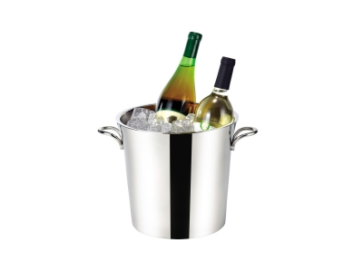 Double Wall Oval Shaped Wine Cooler for 2 Bottles