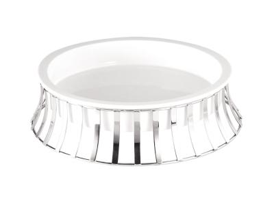 Porcelain Round Holder - tall