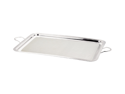 Rectangular Service Tray with Handle - surface with pattern