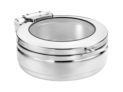 Round Induction Chafing Dish (glass lid) - large